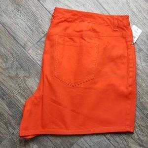 Cato 22w orange denim shorts lower rise